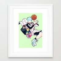 kuroko Framed Art Prints featuring Kuroko  by Alyssa Tye
