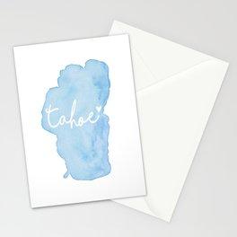 Shoreline Shape of Lake Tahoe  Stationery Cards