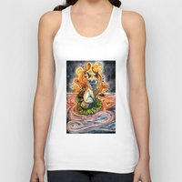 kitsune Tank Tops featuring Lily Kitsune by Care Halverson