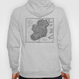 Vintage Map of Ireland (1799) BW Hoody