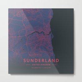 Sunderland, United Kingdom - Neon Metal Print