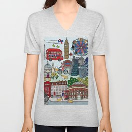 The Queen's London Day Out Unisex V-Neck