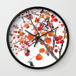 GIFT OF PERSIMMON Wall Clock
