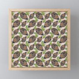 Watercolor Pine Cone Pattern Framed Mini Art Print