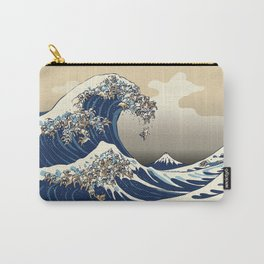 The great wave of english bulldog Vanilla Sky Carry-All Pouch