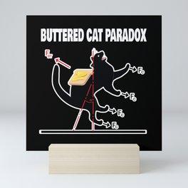 Buttered Cat Paradox Math Physics Cat Mini Art Print