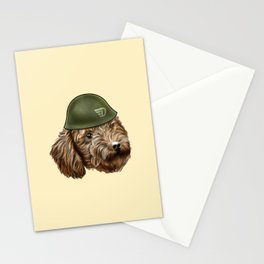 Toy Poodle Soldier Stationery Cards
