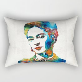 Frida Kahlo Art - Viva La Frida - By Sharon Cummings Rectangular Pillow