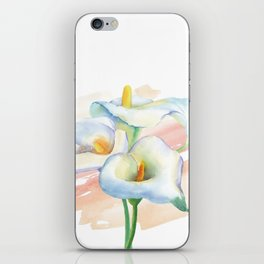 Calla lily Watercolor Bouquet iPhone Skin