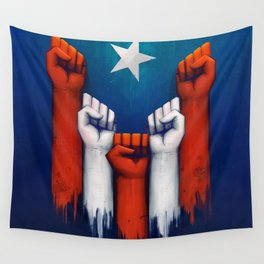 Puerto Rico power of the people Wall Tapestry
