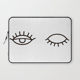 Eyes Wink Print, Makeup Art, Makeup Illustration, Illustration Poster, Fashion Poster, Wardrobe Art, Laptop Sleeve