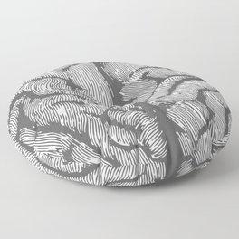 Brain vintage illustration Floor Pillow