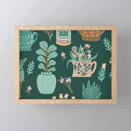 You can never have too many house plants Framed Mini Art Print