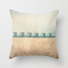 Venice cabins Throw Pillow