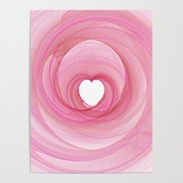 Valentine's Fractal I - Light Poster