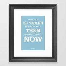 20 Years Framed Art Print