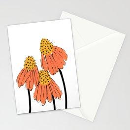 Orange Coneflower Stationery Cards