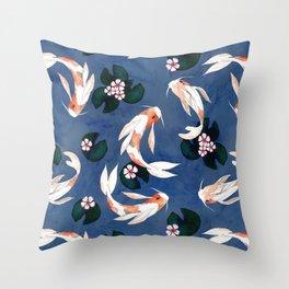 Japanese carps Throw Pillow