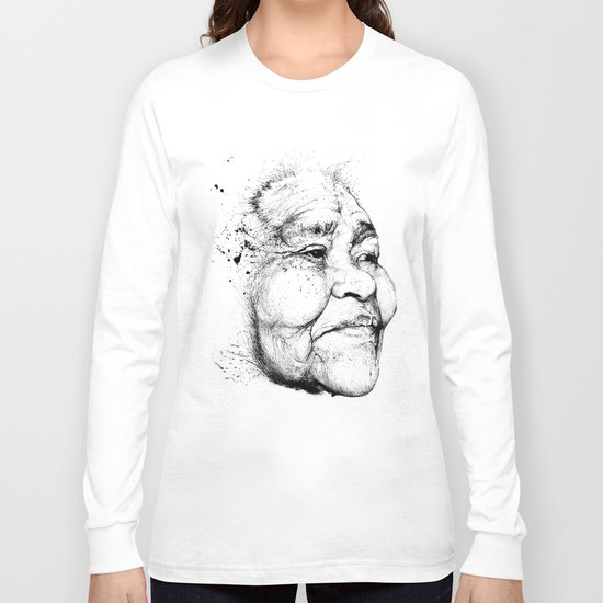 """Gabriela"" of the Kaweskar People B+W Long Sleeve T-shirt"