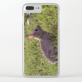 Spring Rabbit Clear iPhone Case