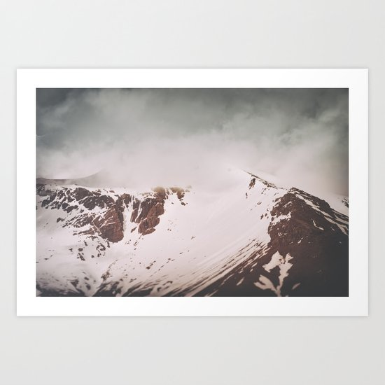Into the mountains II Art Print