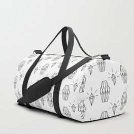 Geometrical black white diamond shapes pattern Duffle Bag