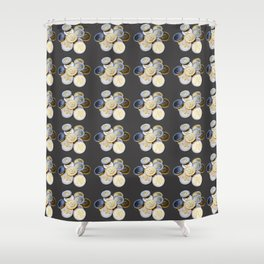Cryptocurrency Pattern Shower Curtain