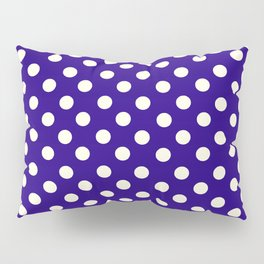 Polka Dot Party in Blue and White Pillow Sham