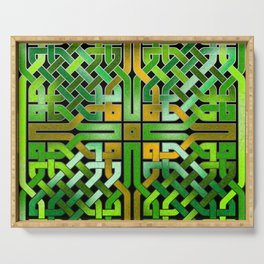 Green Celtic  Knot Square Serving Tray