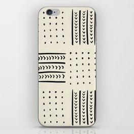 Mud Cloth in Cream iPhone Skin