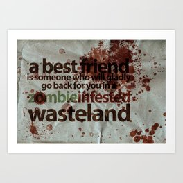 Zombie Infested Wasteland Art Print