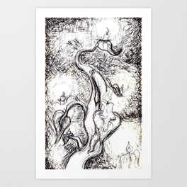 The Candlestick Stalk Art Print