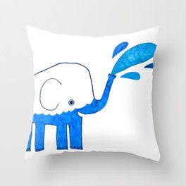 half empty elephant Throw Pillow