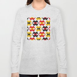 Geometric Pattern #180 (yellow red black) Long Sleeve T-shirt