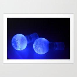 Fluorescent round bottomed flasks Art Print