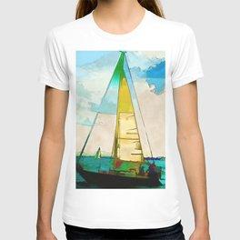 Night Sailing  -  Sailboats T-shirt