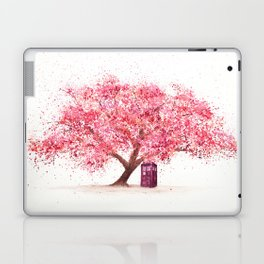Tardis Tree Art Blossom Laptop & iPad Skin