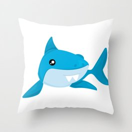 Friendly Sharks Bucktooth Shark Throw Pillow