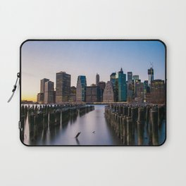 Sunset over Manhattan Laptop Sleeve