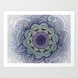 Mandala Violet Art Print