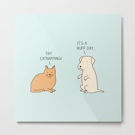 encouraging cat Metal Print