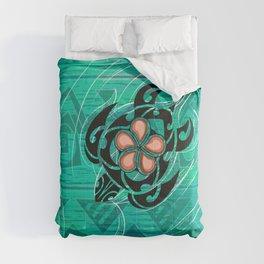 Vintage Hawaiian Honu Decor Comforters