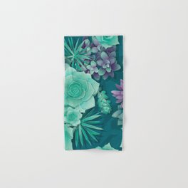 Succulent Love I Hand & Bath Towel