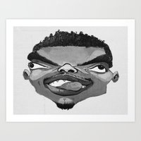 chance the rapper Art Prints featuring Chance the Rapper by Josephine Guan