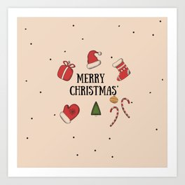 New Year, Cristmas, winter holidays Art Print