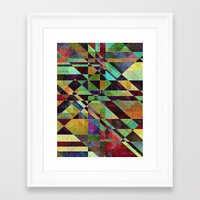 fault Framed Art Prints featuring Fault Lines by Klara Acel