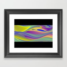 Abstract Rainbowart in retrostyle 10 Framed Art Print