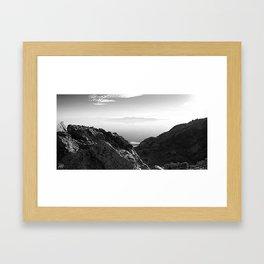 Floating Mtn. Framed Art Print