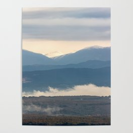 Snow covered italian Apennine Mountains Poster