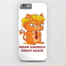Funny Trump Cat iPhone Case